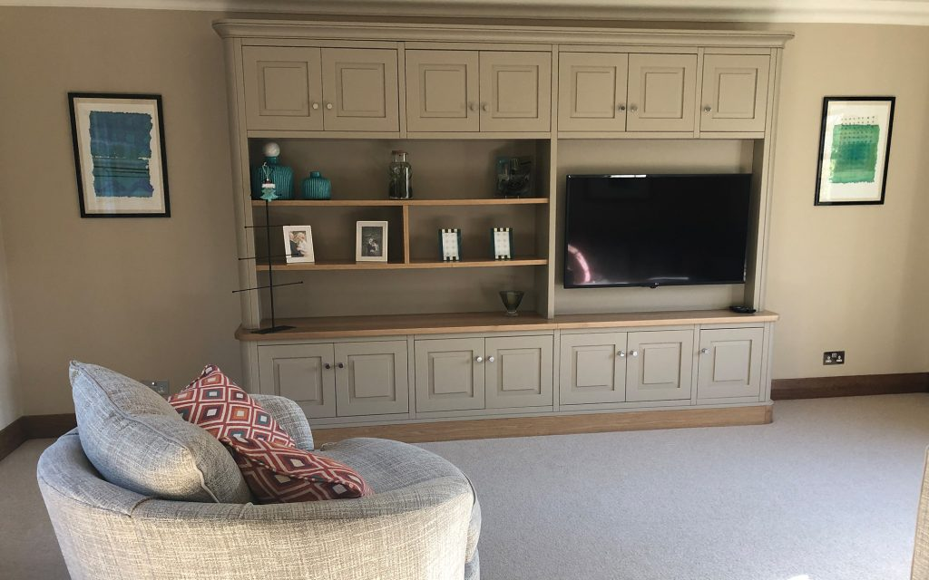 Bespoke TV Unit - Bourne's Fine Furniture Sussex