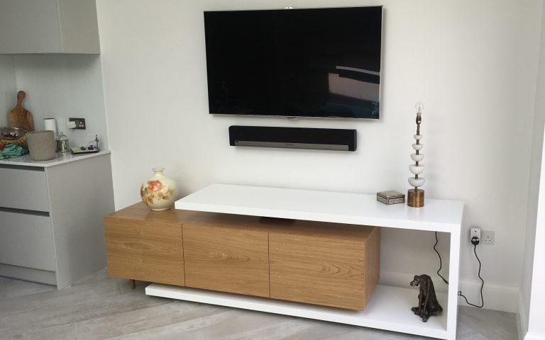 Bespoke TV Unit - Bourne's Fine Furniture Sussex