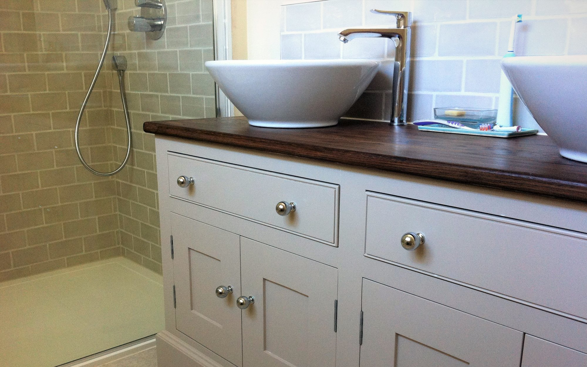Handmade Bathroom Vanity - Bourne's Fine Furniture Sussex