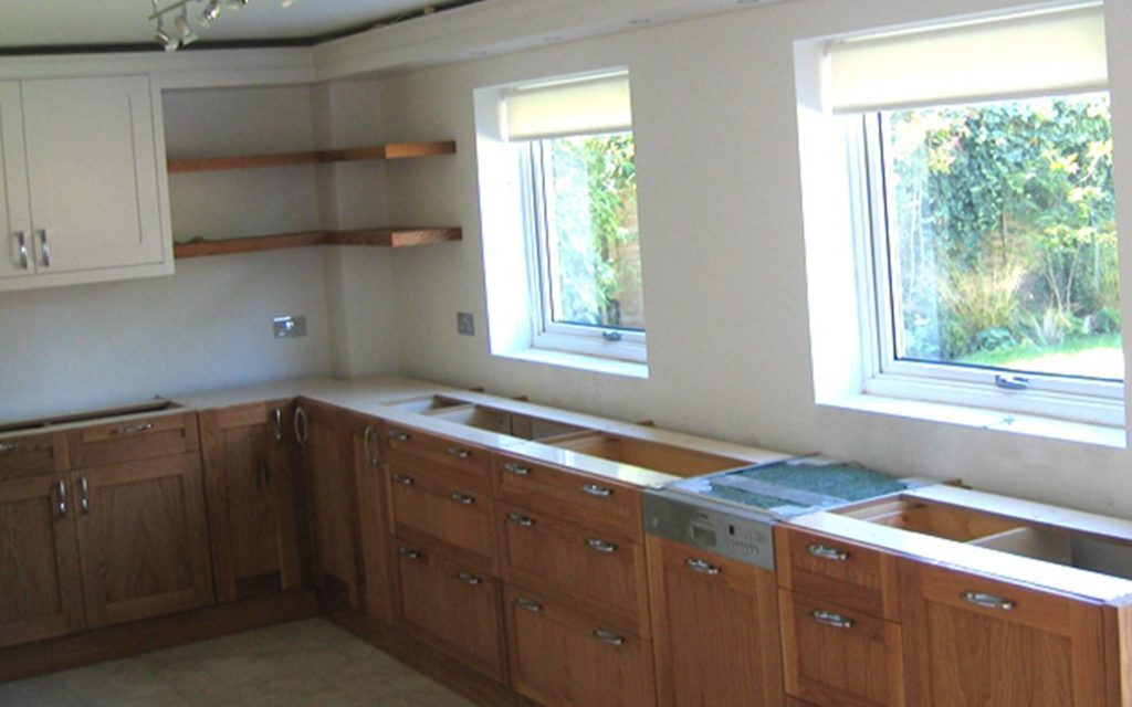 Bespoke American White Oak Fitted Kitchen - Bourne's Fine Furniture