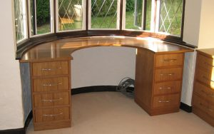 American White Oak Desk & Filing System - Bourne's Fine Furniture