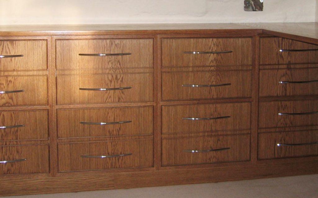 American White Oak Filing Cabinet - Bourne's Fine Furniture
