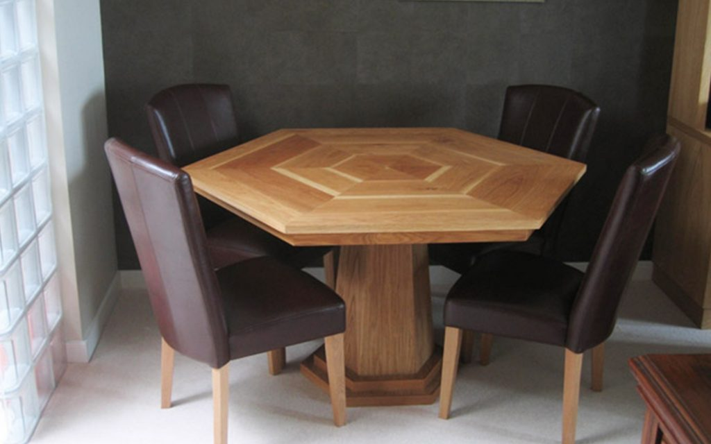 Bespoke Hexagonal Dining Table - Bourne's Fine Furniture