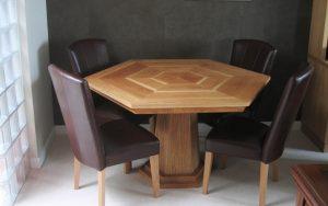 Bespoke Hexagonal Dining Table - Bourne's Fine Furniture
