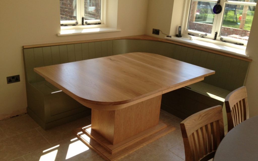 Bespoke Banquette Dining Area - Bourne's Fine Furniture