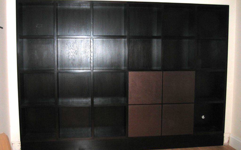 Bespoke Handmade Wenge Bookcase - Bourne's Fine Furniture