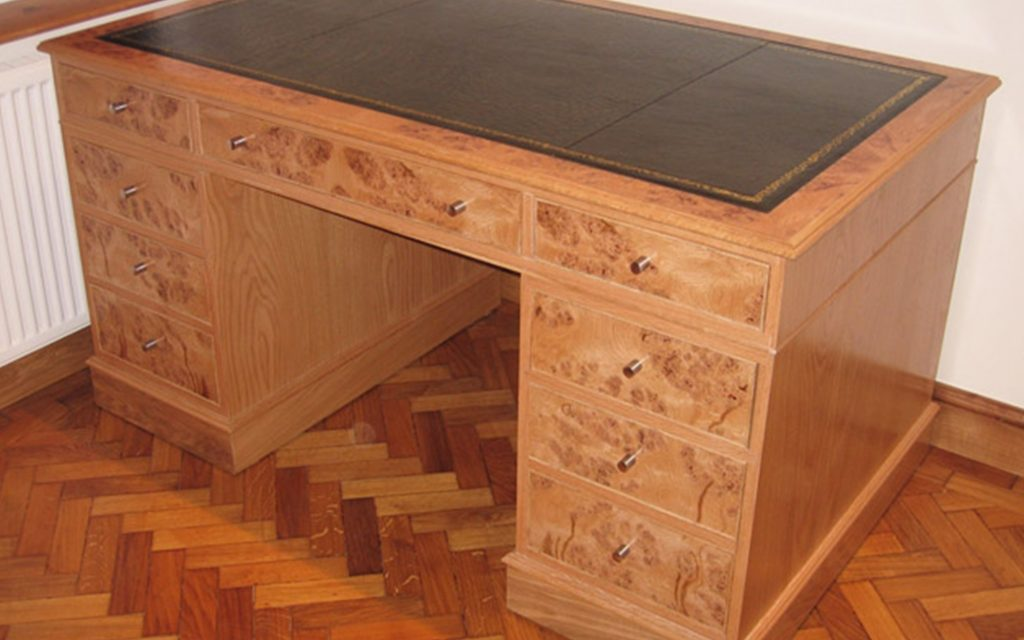 Bur Oak Desk & Office Furniture - Bourne's Fine Furniture