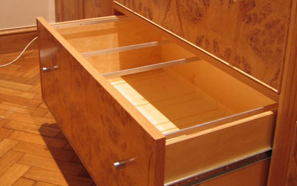 Bur Oak Office Furniture interior - Bourne's Fine Furniture