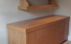 Bespoke Filing Unit and Floating Shelves - Bourne's Fine Furniture