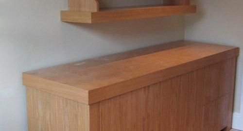 Bespoke Filing Unit and Floating Shelves - Bourne's Fine Furniture