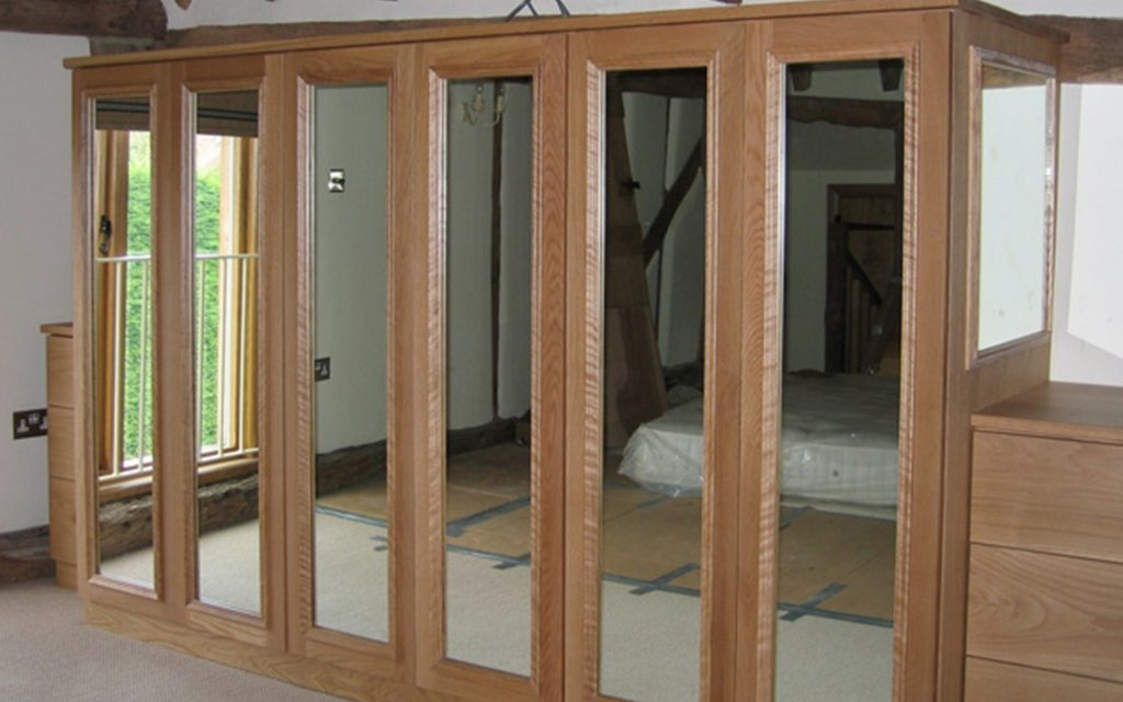 Freestanding Wooden Wardrobes with Mirrored Door Panels - Bourne's Fine Furniture