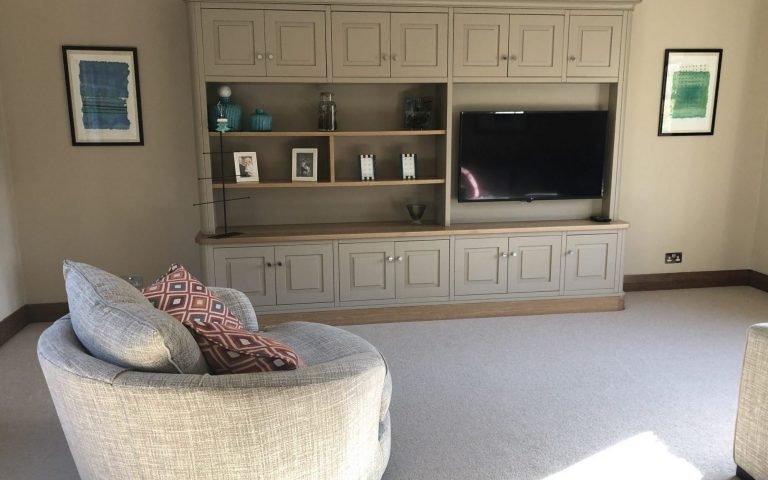Bespoke TV Unit and Shelving Unit - Bourne's Fine Furniture