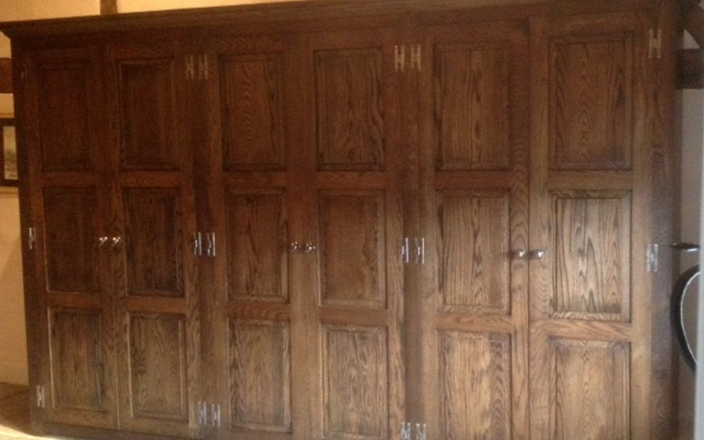 Jacobean Style Oak Wardrobes - Bourne's Fine Furniture