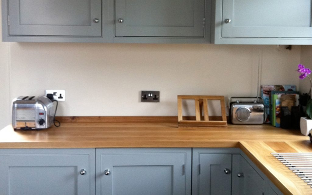 Oak and Rosewood Fitted Kitchen - Bourne's Fine Furniture