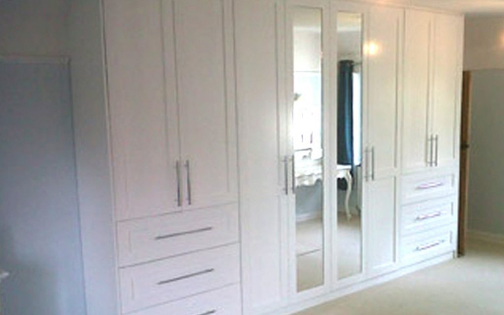 Off-White Fitted Wardrobes - Bourne's Fine Furniture