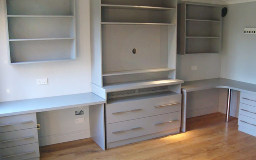 Bespoke Desks & Office Furniture with Metallic Handles - Bourne's Fine Furniture