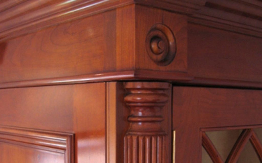 Solid Cherry Wardrobe detailing - Bourne's Fine Furniture