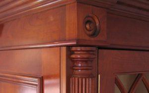 Solid Cherry Wardrobe detailing - Bourne's Fine Furniture
