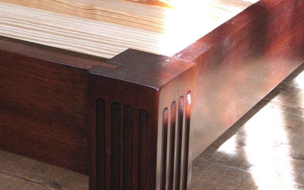 Solid Mahogany Bedframe detailing - Bourne's Fine Furniture