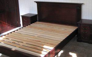 Solid Mahogany Bedframe and Bedside Tables - Bourne's Fine Furniture