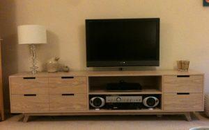 Bespoke Television Display Unit - Bourne's Fine Furniture