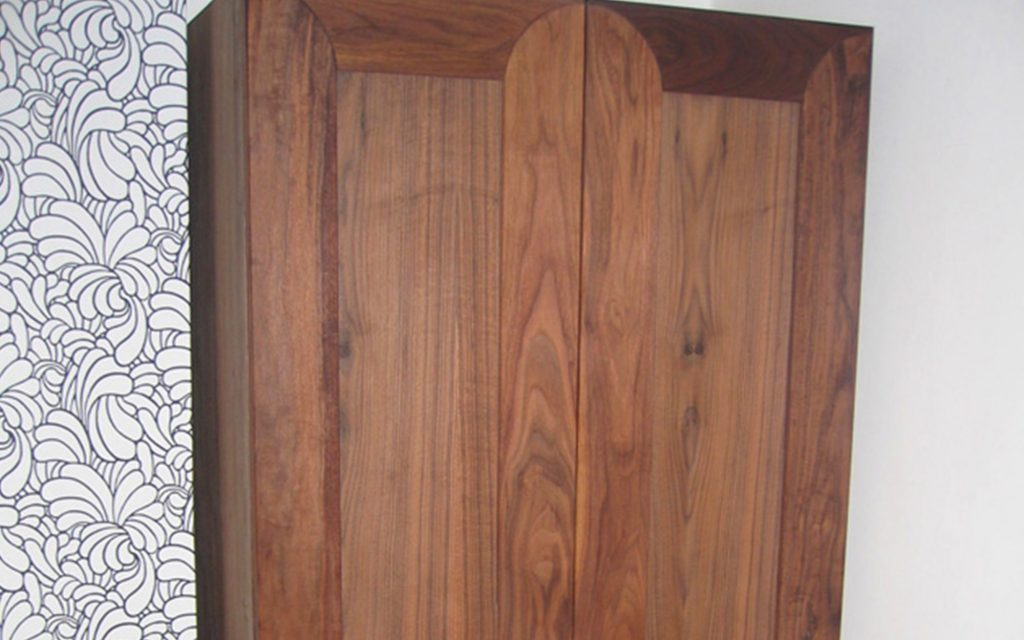 Handmade Walnut Wardrobe - Bourne's Fine Furniture