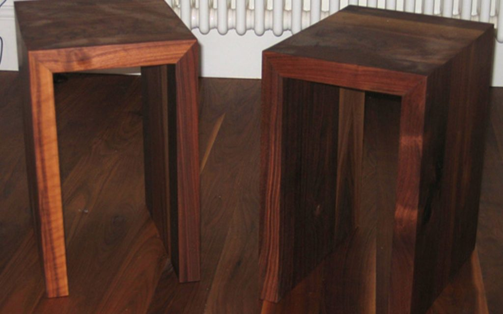 Pair of Walnut Bedside Tables - Bourne's Fine Furniture