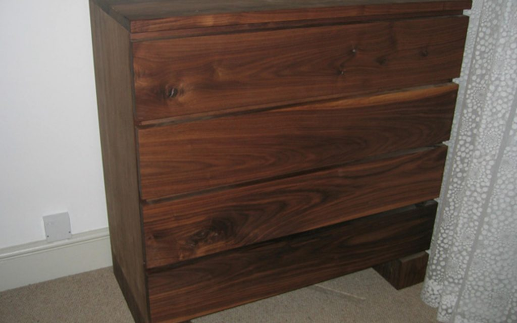 Walnut Chest of Drawers - Bourne's Fine Furniture