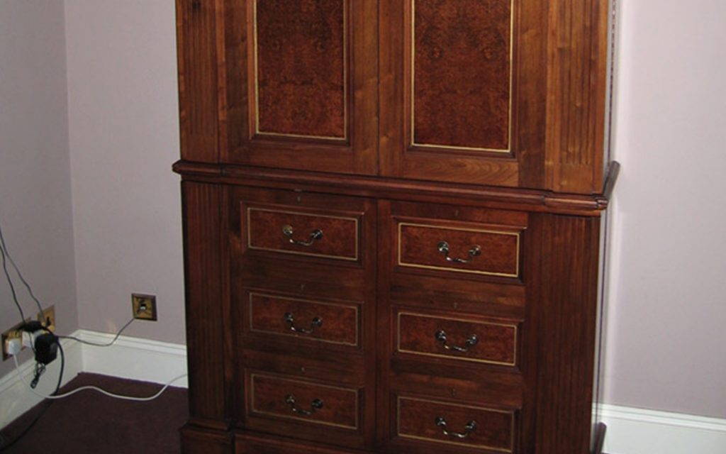 Handmade Walnut Cabinet - Bourne's Fine Furniture