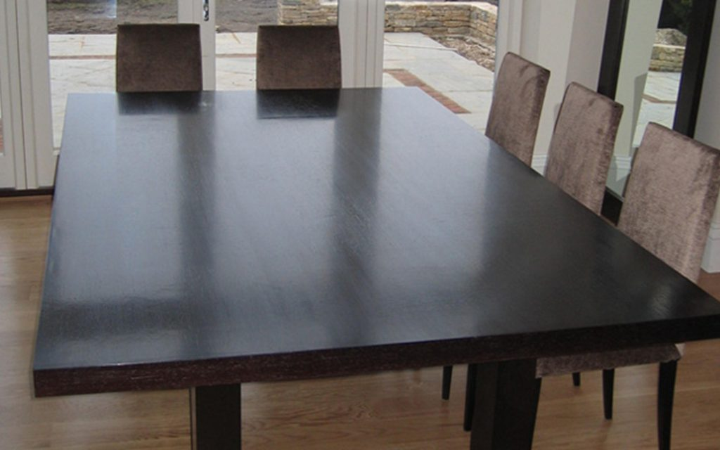 Handmade Wenge Dining Table - Bourne's Fine Furniture