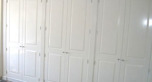 White Built In Wardrobes - Bourne's Fine Furniture