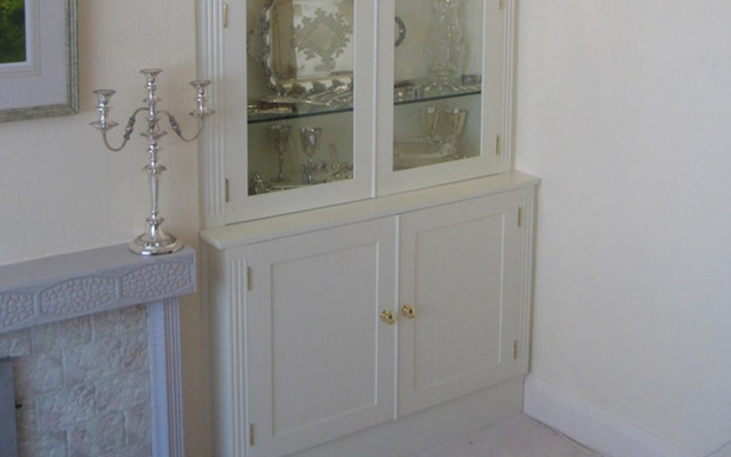 White Display Cabinet - Bourne's Fine Furniture