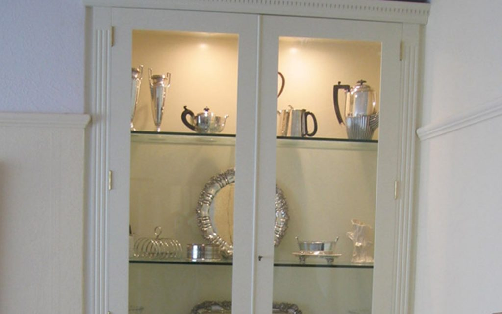 Bespoke White Display Cabinets - Bourne's Fine Furniture