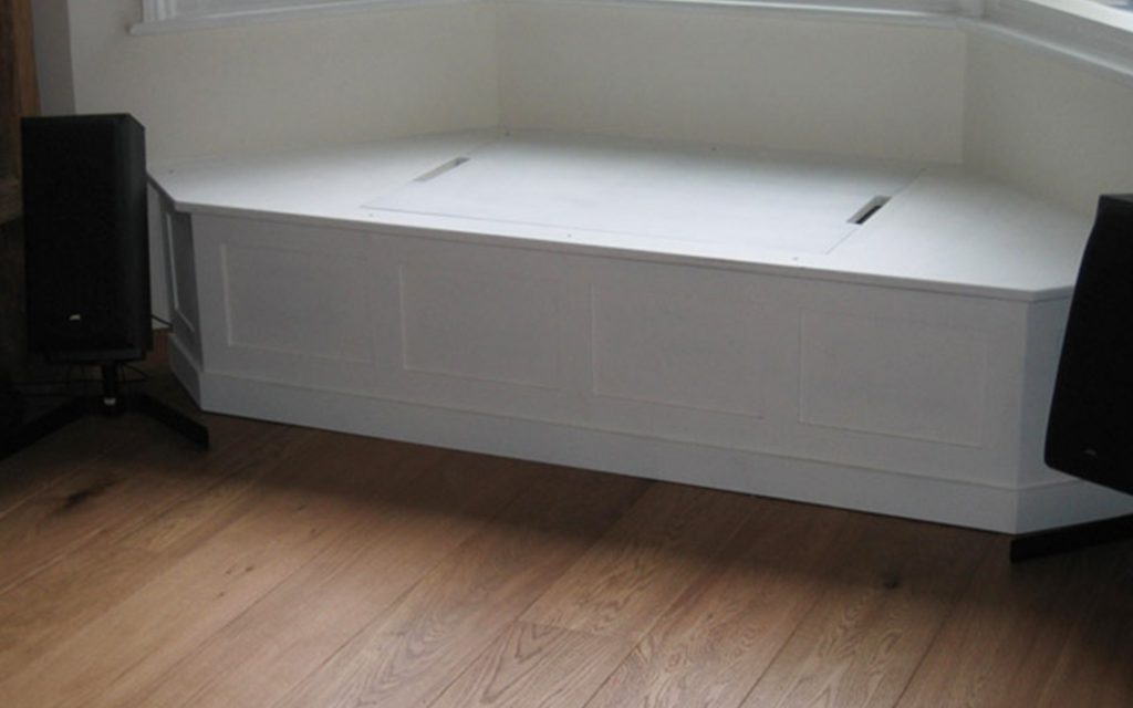 White Under Window Storage - Bourne's Fine Furniture
