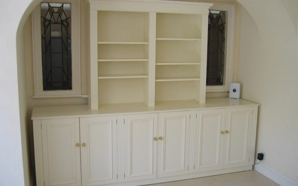 Handmade White Storage Unit - Bourne's Fine Furniture