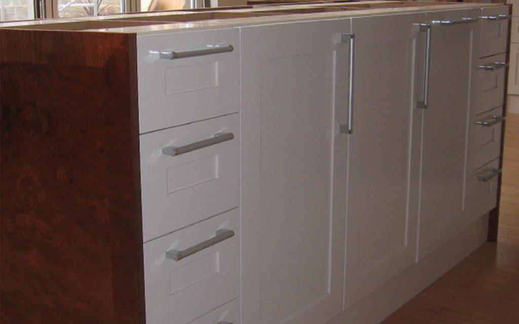 White Walnut Fitted Kitchen - Bourne's Fine Furniture