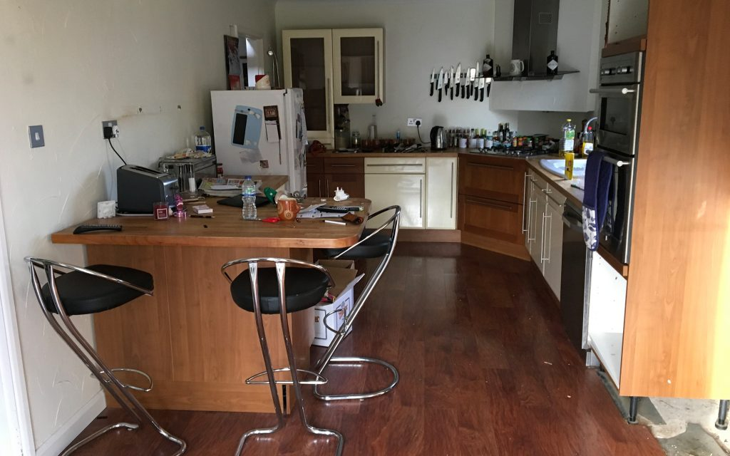 Police House Kitchen (Before) | Bourne's Fine Furniture
