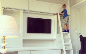 White Media Unit | Bourne's Fine Furniture