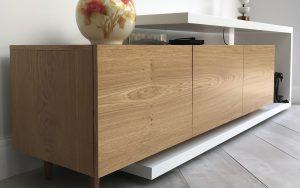 White and Oak TV Box | Bourne's Fine Furniture