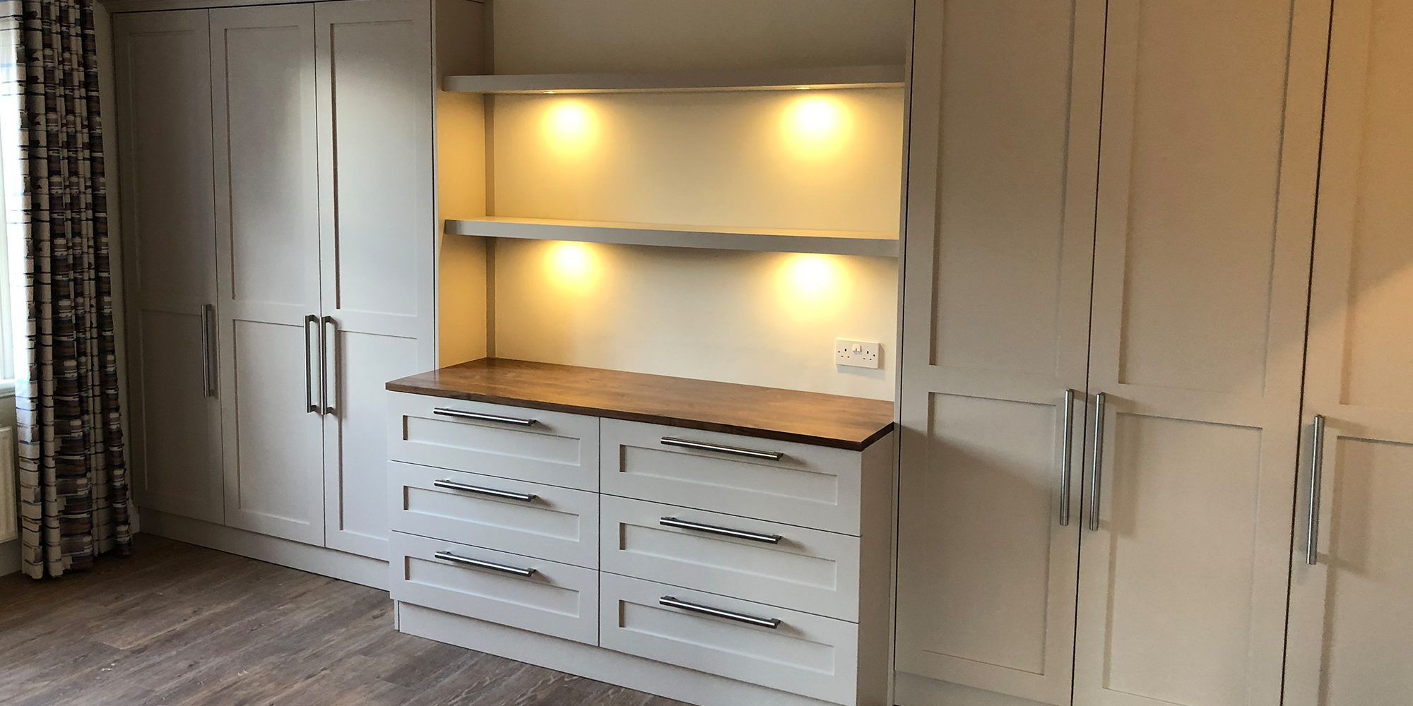 Bespoke Storage Unit and Shelves - Bourne's Fine Furniture Sussex
