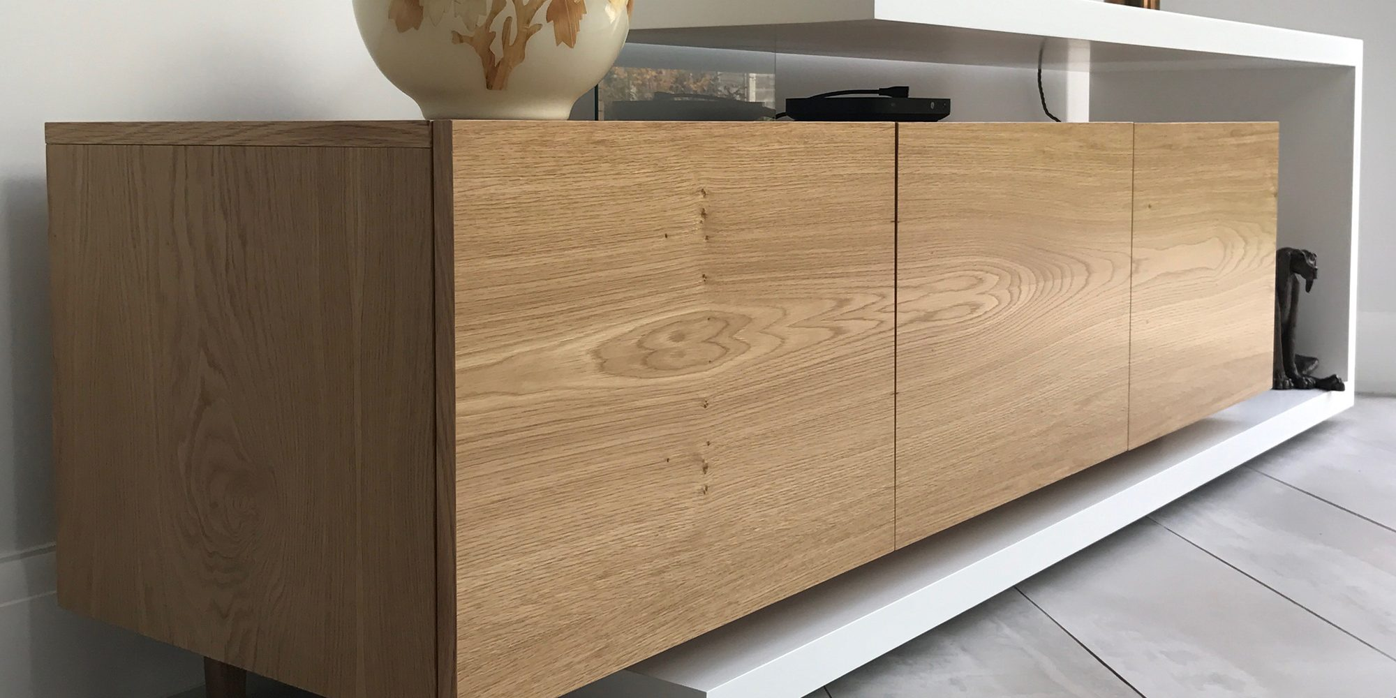 White and Oak TV Box | Bourne's Fine Furniture